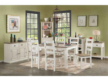 Santorini Stone Painted Dining Table and Chairs