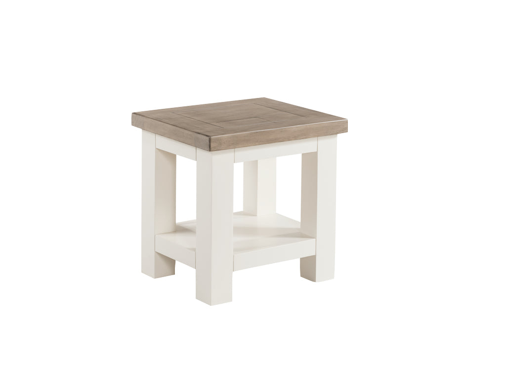 Santorini Stone Painted Lamp Table