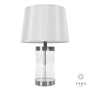 Carlee table lamp satin silver 66cm