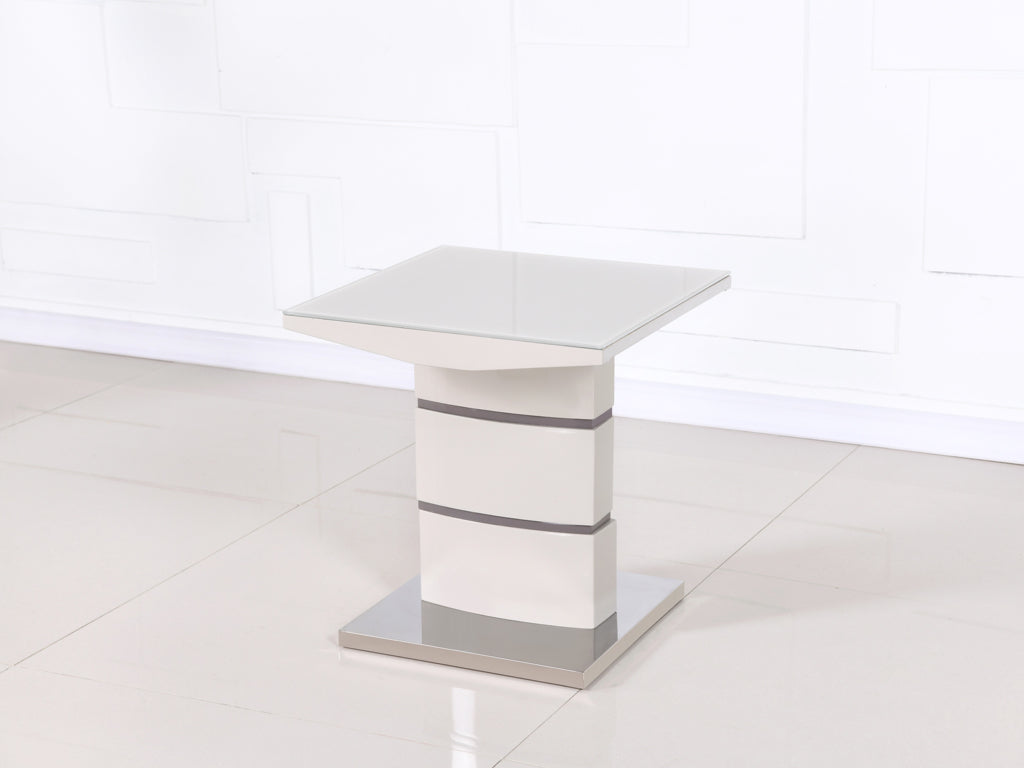 Toscana Champagne Glass Top End Table