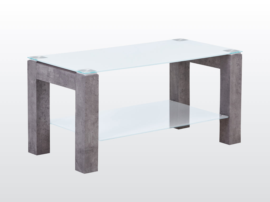 Tivoli Coffee Table - Glass and Concrete Effect