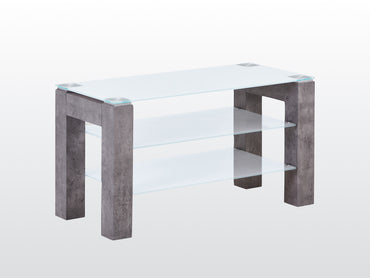Tivoli TV Unit - Glass and Concrete Effect