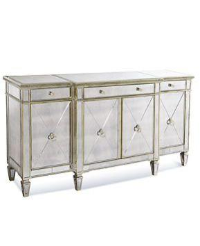 Tiffany Champagne 4 Door Sideboard