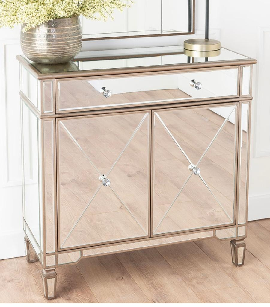 Tiffany Champagne 2 Door Sideboard