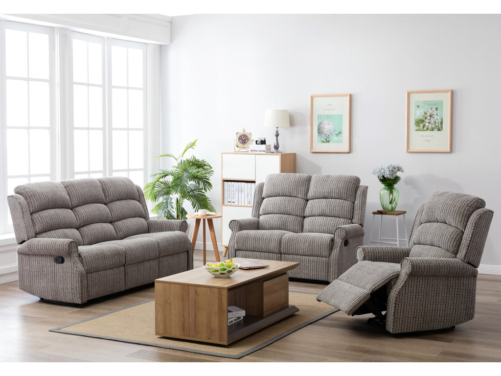 Windsor Fabric 3+1+1 Recliner Sofa Suite