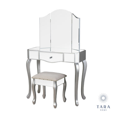REFLECTIONS DRESSING TABLE W/STOOL