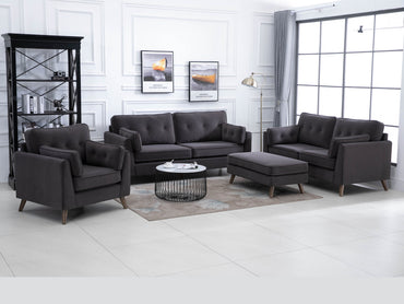 Zurich Velvet Fabric Sofa Suite