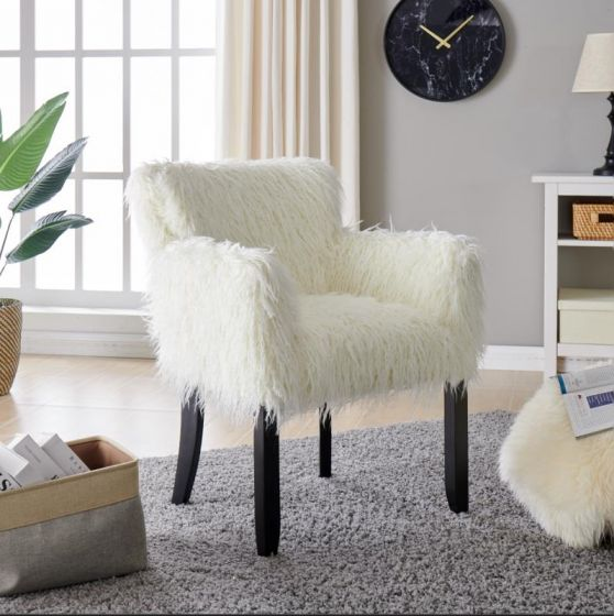 Faux Sheepskin Tub Chair