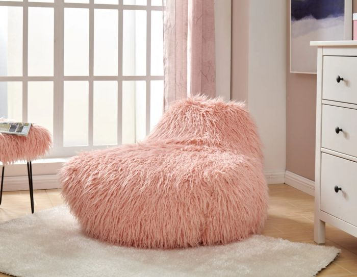 Faux Sheepskin Bean Bag