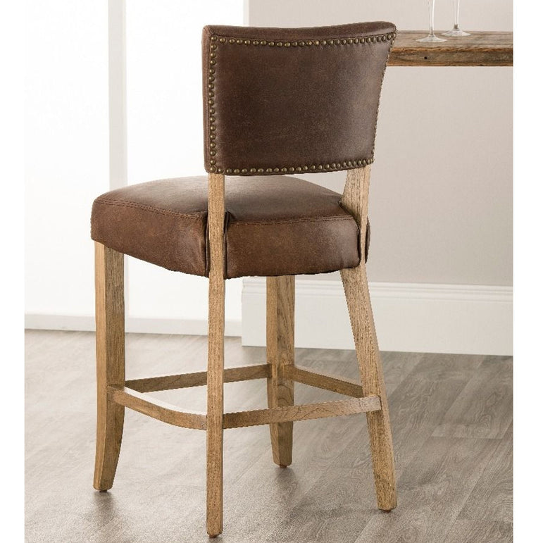 Bourton Barstool- Brown Leather
