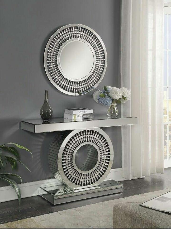 Crystal Console & Mirror