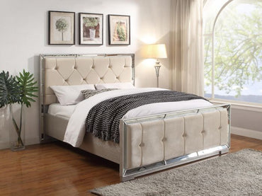 Sofia King Bed - Cream