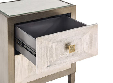 Nova 2 Drawer Side Table