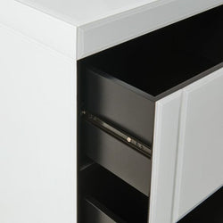 Hollywood 2 Drawer Side Table-White