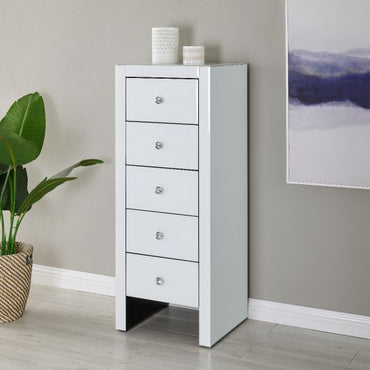 Hollywood 5 Drawer Tallboy -White