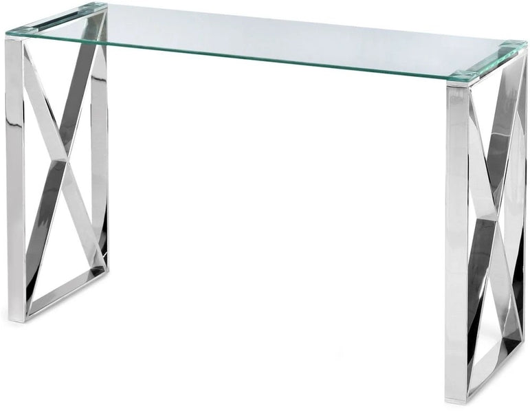 Glass Capri console table