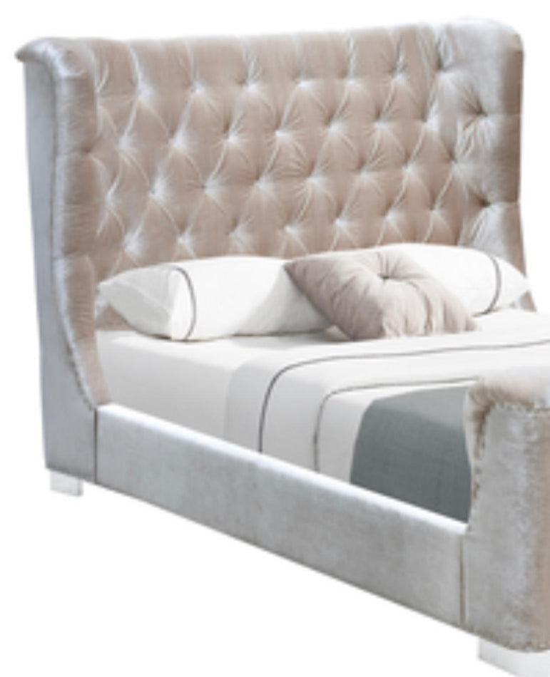 The New York Grey SuperKing  Bedframe with free mattress