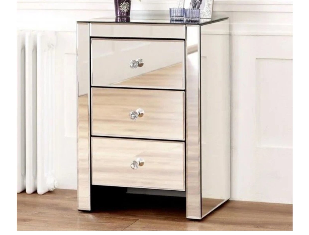 Hollywood 3 drawer bedside