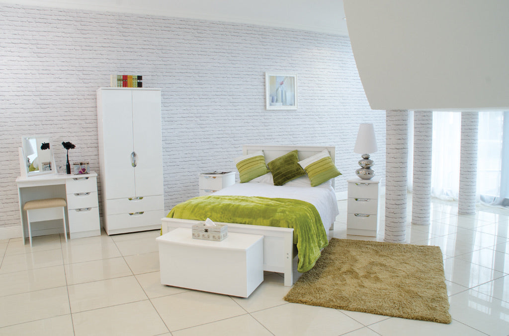 HI GLOSS WHITE BEDROOM COLLECTION