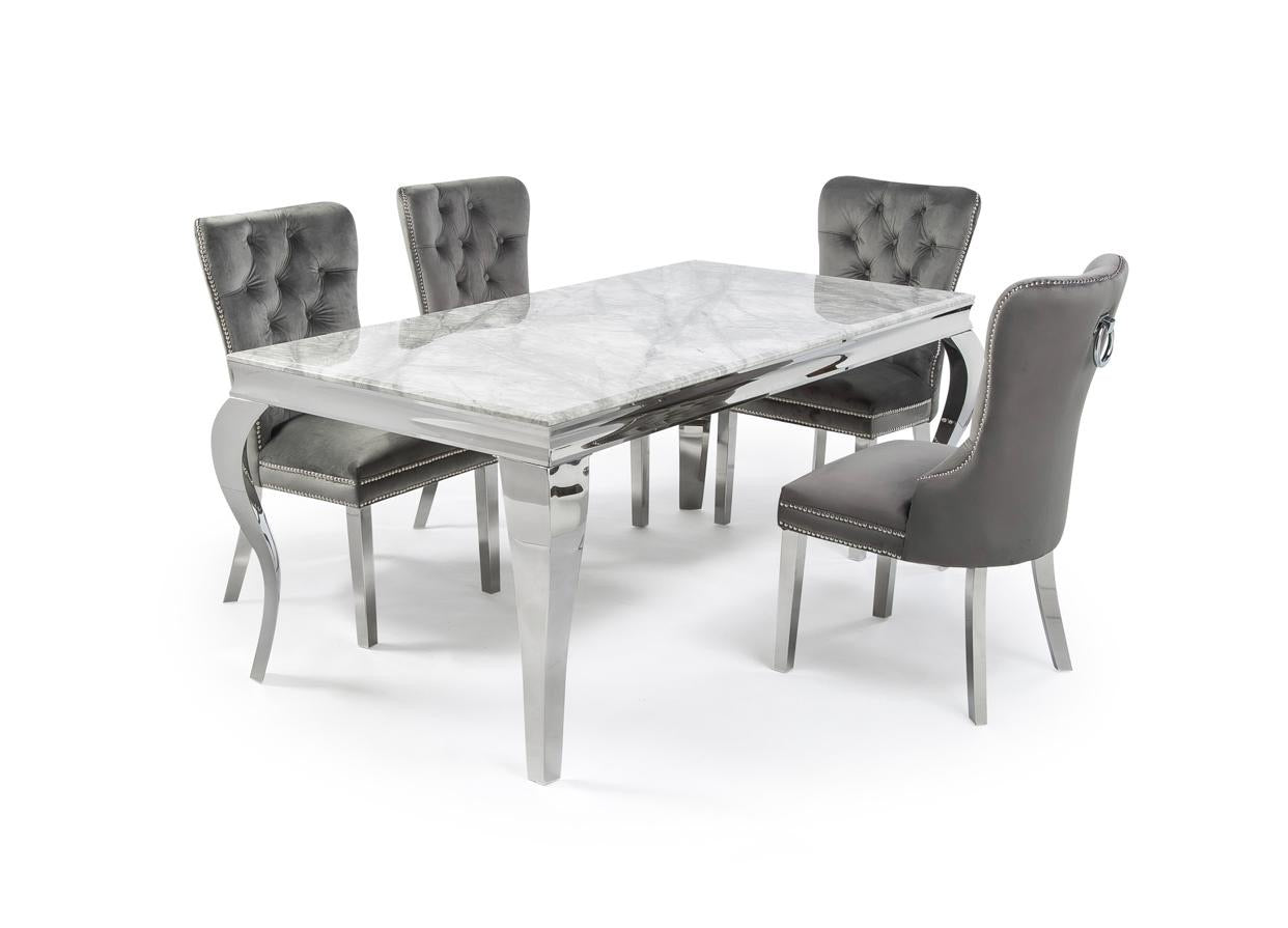 Louis 1.5m or 2m Table with 4 or 6 Isla Chairs