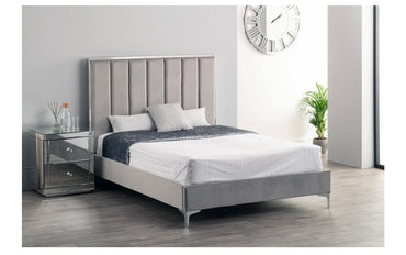Broadway Bed - Double - Grey