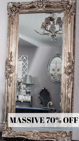 Champagne Charlotte Antique Mirror