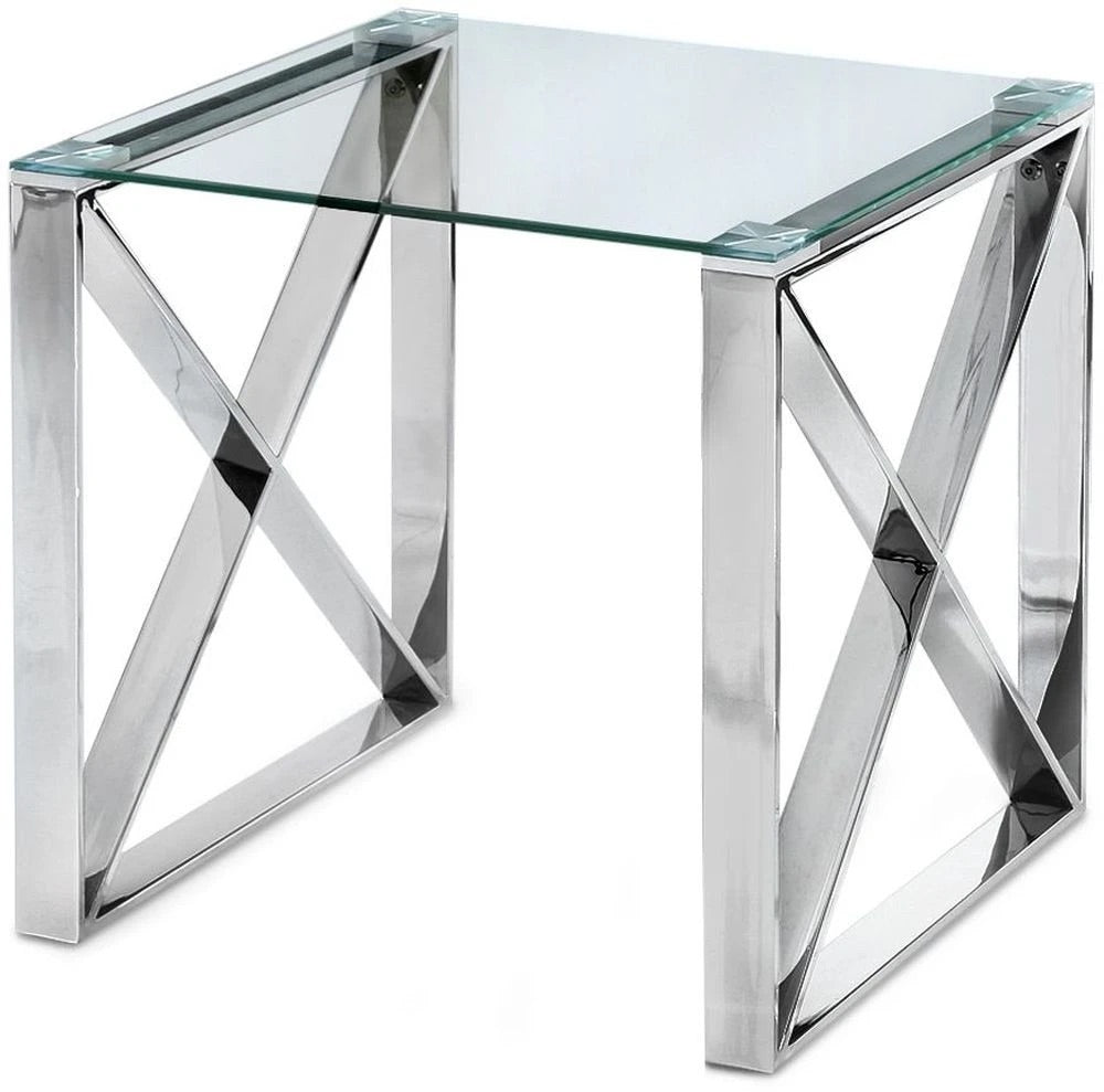Glass Capri side table