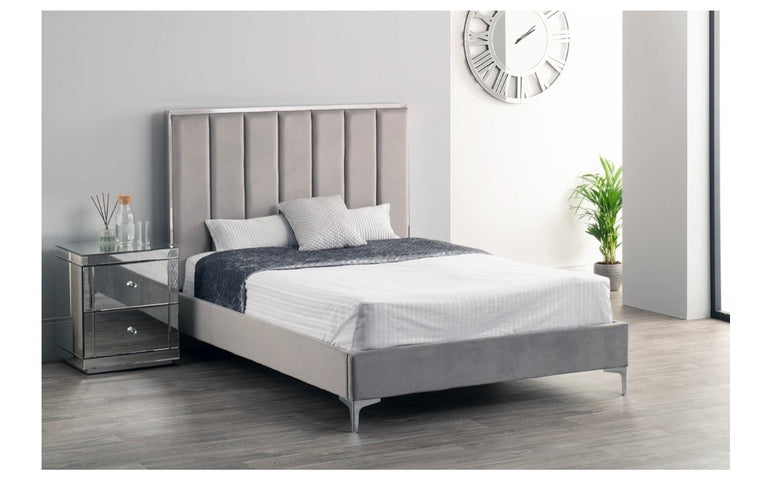 Broadway Bed - King 5ft - Grey