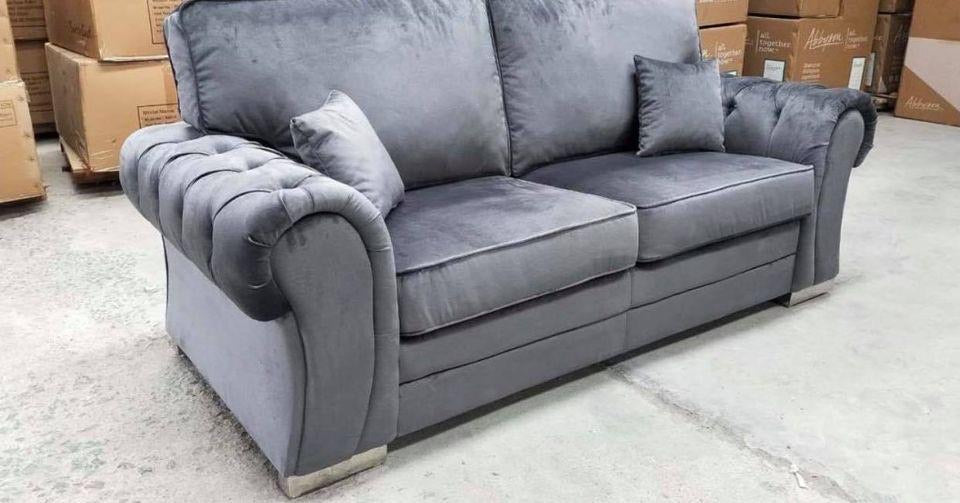 Newburgh Grey Chesterfield 3+2