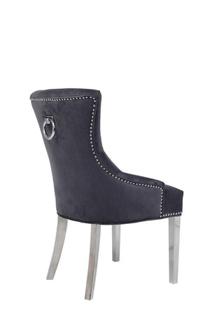 Dark Grey Ivy Knocker Belvedere Chair