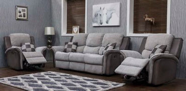 ROBERTO FABRIC - STONE / DARK GREY SUITE
