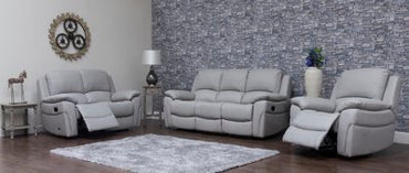 SERENA - HALF LEATHER - PEARL GREY SUITE