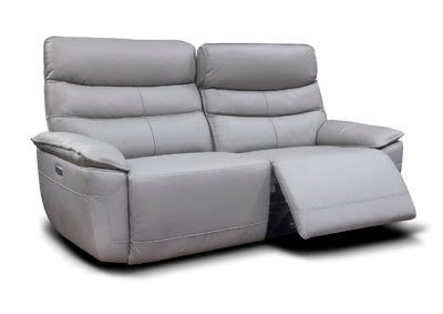 CADIZ - FULL LEATHER - LIGHT GREY SUITE
