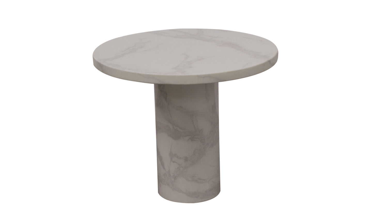 Carra Lamp Table Round - Bone White 650