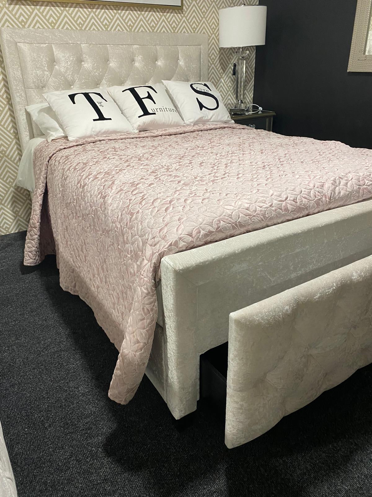 Carolina Storage Bed Champagne Double. SOLD OUT
