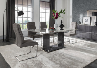 Donatella dining set 1600 with 6 chairs