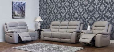 ROMANO HALF LEATHER - TAUPE GREY SUITE