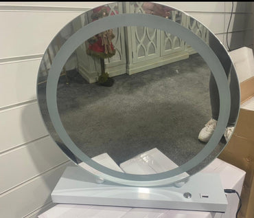 Hollywod Round LED Mirror
