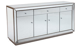 Imelda Sideboard Mirrored - 4 Door 3 Drw