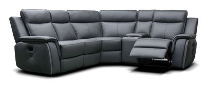 INFINITI - LEATHER MODULAR SOFA - DARK GREY/ LIGHT GREY