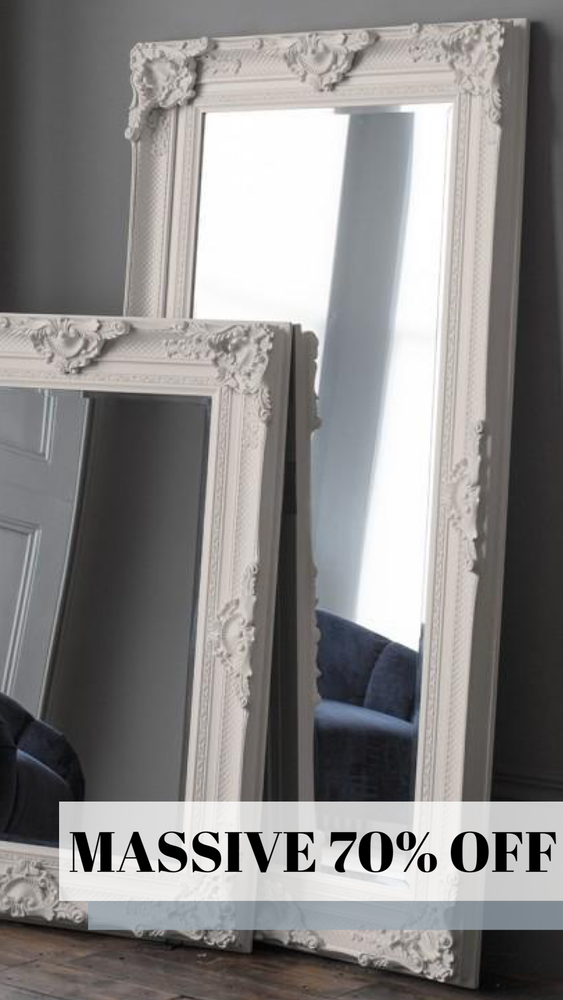 White Carolina Antique Mirror