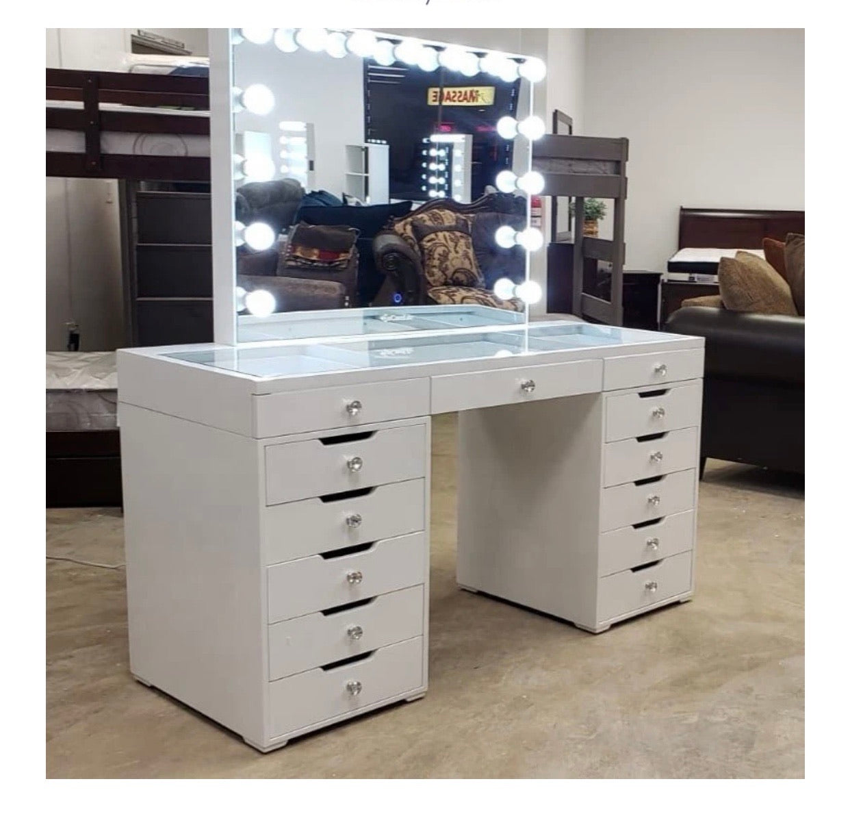 Hollywood Dressing Table Pro White