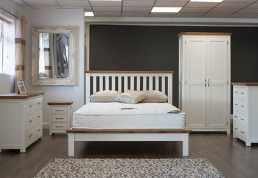 "Lagan - Bed - 54"" (4'6"") - Grey & Oak/All Oak/All Cream"