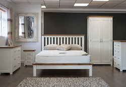 "Lagan - Bed - 60"" (5') - Grey & Oak/All Oak/All Cream"