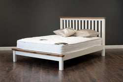 "Manhattan - Bed - 54"" (4'6"") - Oak/Cream & Oak"