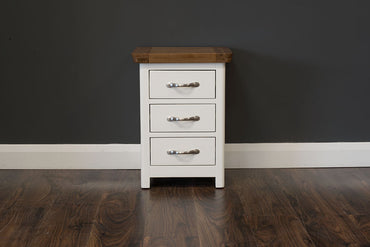 Manhattan - Locker - 3 Drawer - Oak/Cream & Oak