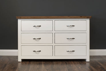 Manhattan - Chest - 6 Drawer - Oak/Cream & Oak