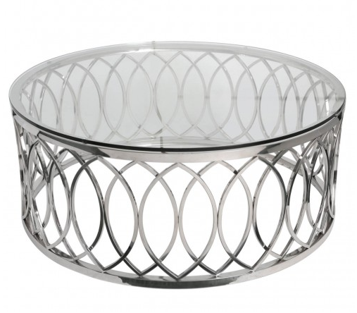 Swirl Chrome Coffee Table