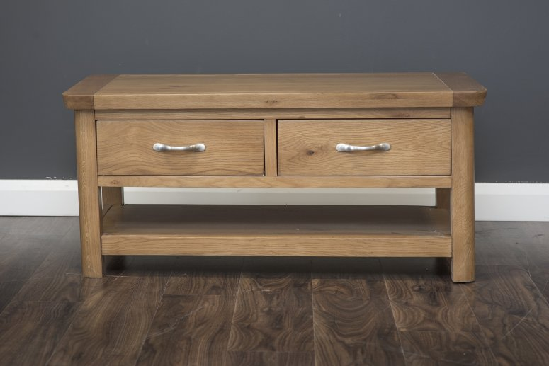 Manhattan - Coffee Table - 2 Drawer - Oak