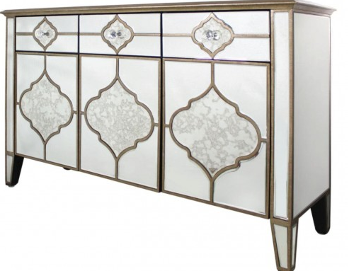 Marra Mirror 3 Drawer 3 Mirror Sideboard